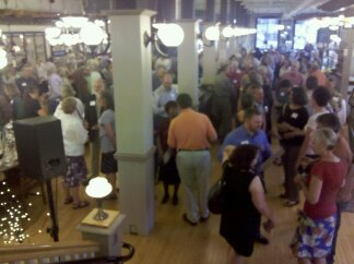 Nearly 300 packed into Rejuvenation Hardware to show support for Charlie Hales
