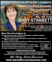 In Yamhill County, Mary Starrett tries to tea-party her way onto the County Commission
