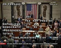 House passes debt ceiling vote