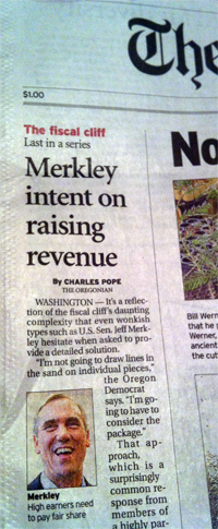 The Oregonian's right-wing headline writer strikes again