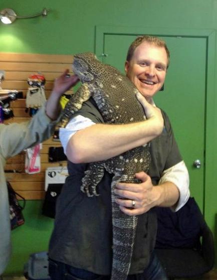 Jefferson Smith and a Komodo Dragon