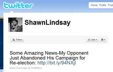 Shawn Lindsey Tweet